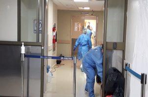 La descontaminación se realizará en al menos cuatro salas de este nosocomio. Foto: Mayra Madrid.