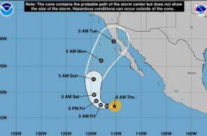 Sergio es el decimoctavo ciclón de la temporada de huracanes en el Pacífico mexicano.
