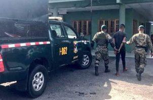 Presunto implicado en el hurto del vehículo. Foto/Mayra Madrid