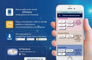 """La aplicación """"InPanamá"""" ofrece información macroeconómica, fiscal y de deuda pública."""