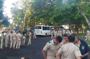 Los estudiantes impidieron el acceso al plantel. Foto: Thays Domínguez.