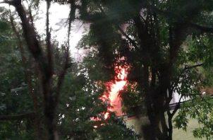 El incendio causó afectaciones. Foto: @TraficoCPanama
