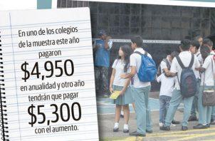 Algunas escuelas particulares aumentaron anualidad y matrícula.