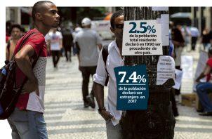 Panamá se caracteriza por contener prácticamente el mayor porcentaje de extranjeros residentes en comparación con otros países de la región.