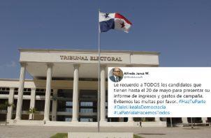 El magistrado Alfredo Juncá pidió en su cuenta de Twitter cumplir con este requisito, para evitar multas.  Foto de Twitter