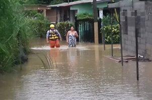 La comunidad de Nuevo México, en Chilibre, quedó inundada. Foto de cortesía