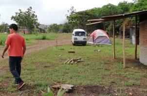 Precaristas se disputan cerca de nueve hectáreas, próximas al hospital Nicolás A. Solano. Foto de Miriam Lasso