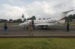 La aeronave fue inspeccionada después del incidente y no sufrió daños. Foto/Mayra Madrid