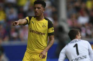 Jadon Sancho llegó al fútbol alemán procedente del Manchester City. Foto AP