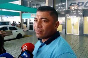 Jaime Agrazal rindió declaraciones a los medios a su salida del SPA en Plaza Ágora.