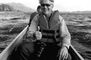 Jaime Figueroa, durante una travesía por el lago Gatún. Foto: Cortesía.