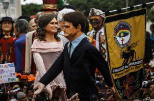 El mandatario brasileño fue objeto de burlas los cuatro días de Carnaval. FOTO/AP