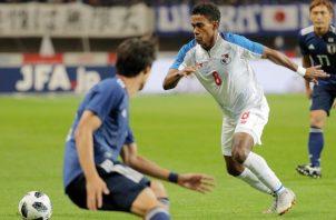 Edgar Yoel Bárcenas durante el partido de Panamá cotra Japón. Foto EFE