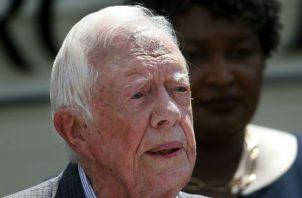 Carter se cayó en su casa en Plains, Georgia y fue operado. Foto: AP.