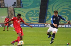 La Sub-20 de Panamá  cayó ante Francia. Foto: Fepafut