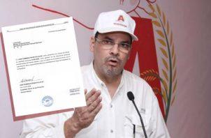 """""""Mimito"""" Arias declinó esta tarde a sus aspiraciones presidenciales. Foto: Info EPASA"""