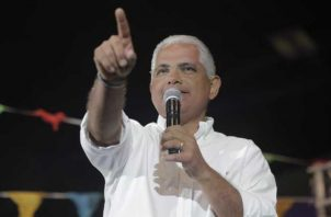 El candidato del panameñismo sigue recorriendo el país. Foto: Cortesía