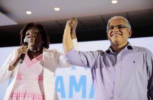 La fórmula presidencial por el Partido Panameñista y el Partido Popular, José Isabel Blandón y Nilda Quijano.