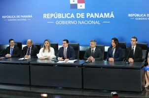 José Gabriel Carrizo encabezó la conferencia de prensa del quinto Consejo de Gabinete.