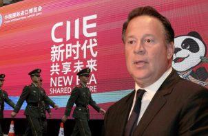 Juan Carlos Varela y su apoyo a la expansión de una 'China imparable'. Foto: Panamá América.