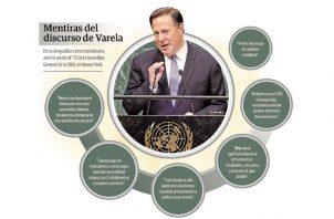 El discurso del presidente Juan Carlos Varela ante la ONU fue fuertemente cuestionado.