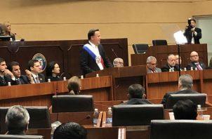 """""""Estoy en paz por haber cumplido mis promesas"""", dijo presidente Juan Carlos Varela. Foto: Presidencia de Panamá."""