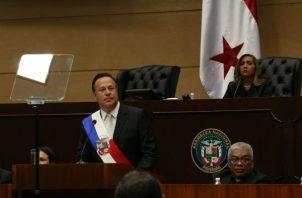 El presidente Juan Carlos Varela presentó hoy su informe a la nación