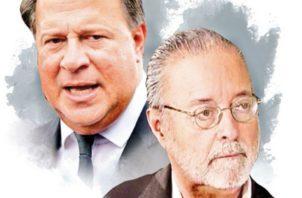 Juan Carlos Varela y magistrado del Tribunal Electoral. Eduardo Valdés Escoffery.