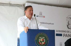 El presidente Juan Carlos Varela atacó a sus críticos en un acto en Cabuya de Tocumen.