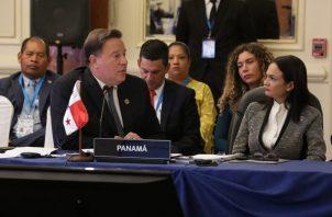 Presidente de Panamá, Juan Carlos Varela.