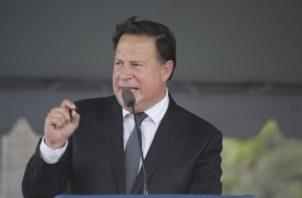 Expresidente Juan Carlos Varela. Foto de archivo