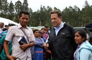 El presidente Juan Carlos Varela incluso mencionó los productos que podrían producir en la Comarca Gnäbe Buglé.