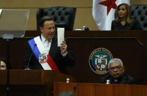 Juan Carlos Varela ha reiterado que su gobierno actúa con  transparencia. Archivo
