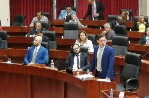 El diputado Juan Diego Vásquez presentó al pleno legislativo un anteproyecto de Ley. Foto @asambleapa