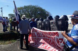 Vienen protestando desde el mes de octubre del año pasado. Foto: José Vásquez.