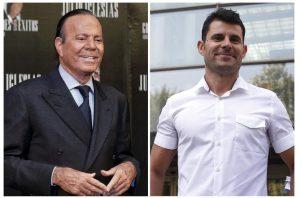 Julio Iglesias y Javier Sánchez. Foto: EFE