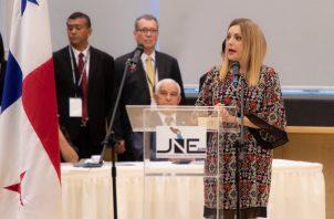 Nivia Rossana Castrellón Echeverría es la presidenta de la Junta Nacional de Escrutinio 2019.