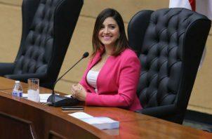 """""""Tengo salones de belleza y salas de cumpelaños, no dependo de la política"""", Katllen Levy. Foto: Panamá América."""