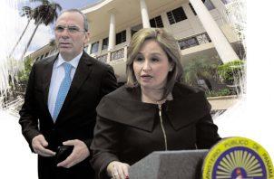 La procuradora Kenia Porcell y el jefe del Consejo de Seguridad, Rolando López