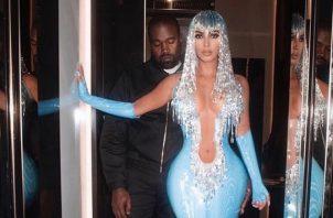 Kim Kardashian y Kanye West. Foto: Instagram