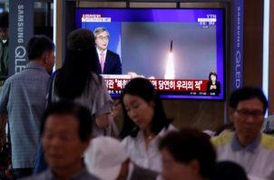 Las pruebas se producen después de que Kim y el presidente estadounidense, Donald Trump, tuvieran el 30 de junio una histórica reunión en la frontera coreana. FOTO/AP
