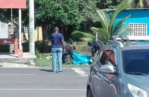 Acabaron con la vida de este ciudadano en La Chorrera. Foto: Eric Montenegro.