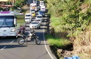 El tráfico vehicular por avenida Libertador final, en La Chorrera, ha sido limitado.