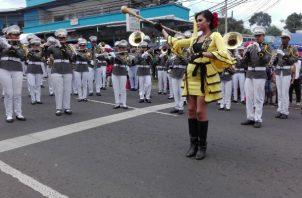 Los colegios se lucieron en La Chorrera. Foto: Eric Montenegro.