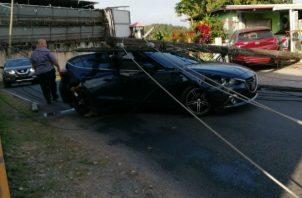 El área del accidente en La Chorrera se mantiene acordonada.