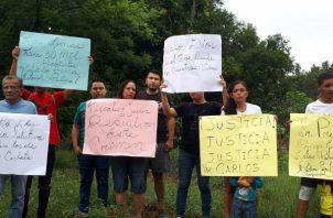 Familiares protestaron exigiendo justicia. Foto: Mayra Madrid.