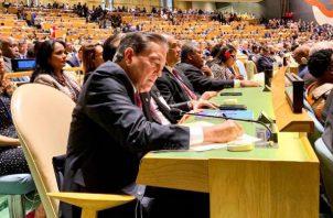 El presidente Laurentino Cortizo dará su discurso este miércoles ante la Asamblea General de la ONU.