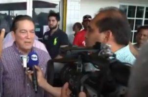 Cortizo dio estas declaraciones en su reciente visita a Chiriquí. Foto: Cortesía