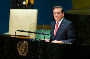 El presidente Laurentino Cortizo hizo su primera aparición en el pódium de la Asamblea General de la ONU, en la que participan 150 Jefes de Gobierno y de Estado.