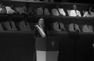El presidente de la República, Laurentino 'Nito' Cortizo, el 1 de julio, durante el acto de toma de posesión. Foto: Archivo. Epasa.